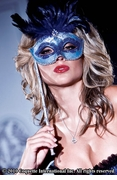 Blue Feather Eye Mask