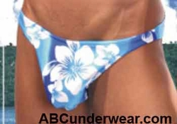 Blue Hibiscus Swim Thong