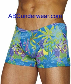 Blue Tahitian Swim Short