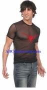 Brave Heart Mesh T-Shirt - Closeout Red