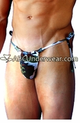 Brown Camo Tie Side Thong