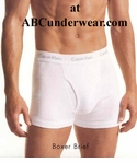 Calvin Klein Cotton Knit White Boxer Brief