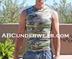 Camouflage Muscle Shirt - Clearance