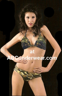 Camouflage Triangle Bikini Swimsuit - Large Clearance