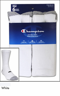 Champion Performance Crew Socks 6 Pack