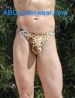 Cheetah Thong Swimsuit
