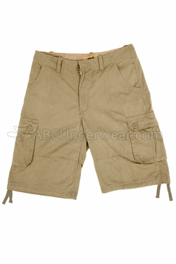 Cotton Cargo Shorts - Khaki