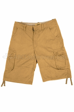 Cotton Cargo Shorts - Tan