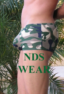 Cotton-Lycra Camo Pouch Short