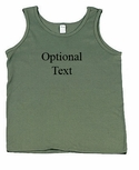 Customizable Olive Drab Men's Tank Top