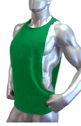 Cutout Muscle Shirt Tank - Kelly Green