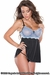 Daisy Stretch Lace Babydoll & G-String Set - Special Order