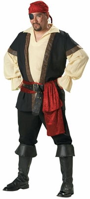 Deluxe Pirate Costume Big Men's