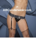 Denim Garter Belt