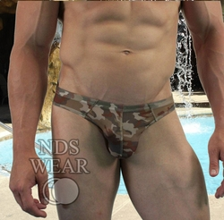 Desert Recon Brown Camo Sheer Bikini Brief