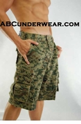 "Digital Camo Cargo Shorts - 28"" Clearance"