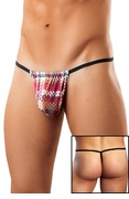Digital Plaid Posing Strap Mens G-String Underwear