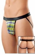 Digital Plaid String Microfiber Jockstrap Underwear