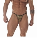 Egyptian God Gold Print G-string/Thong For Men