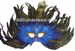 Feather Mask Fleur De Lis