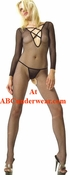 Fishnet Bodystocking w/Criss Cross