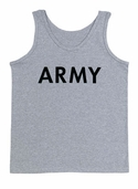 Gray Army Training Tank Top