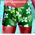 Green Leaf Swim Short