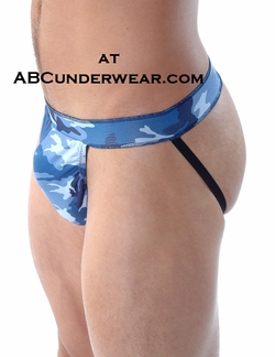 Gregg Homme Blue Camouflage Jockstrap - Clearance