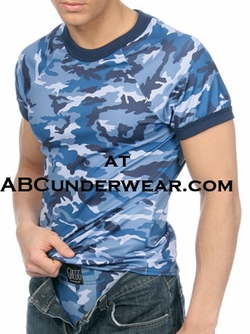 Gregg Homme BLUE Camouflage T-Shirt
