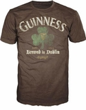 Guiness Clover Logo Brown T-Shirt Small Clearance