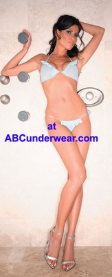 Halter Top with Ruffles & Thong