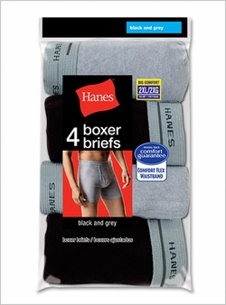 Hanes 2XL Boxer Brief 4 Pack