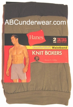 Hanes 3XL Knit Boxer 2 Pack