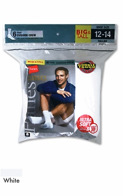 Hanes Big and Tall socks 6 pack