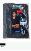 Hanes Black Classics Dyed V-Neck T Shirt 3pk