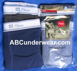 Hanes Classic Pouch Briefs 3 Pack Colors - Med