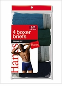 Hanes Mens Dyed Boxer Brief 4 Pack