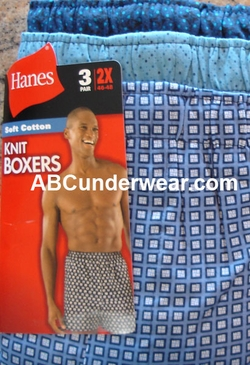 Hanes Printed  Big Men's Boxer 3 Pk