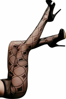 Harlequin Diamond Fishnet Pantyhose Tights