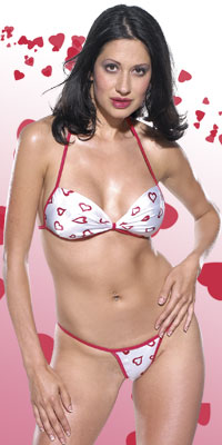 Heart Bikini & Thong Set Lingerie