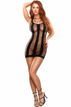 Ladder Dress w/ Cupless Option - Black