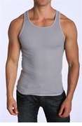 LASC Mens Ribbed Tank Top