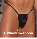 leather underwear pouch thong mens
