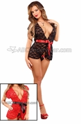 Luv Lace Wrap and G-String Set