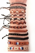 Mayan Forest Leather Bracelets