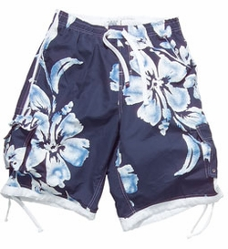 Men's Board Short with Floral Print