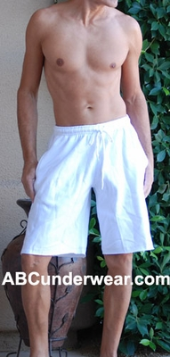 Men's Fleece Long Gym Shorts