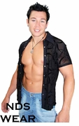 Men's Sheer Snap Front Eclipse Shirt by NDS Wear