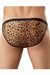 Mens Animal Burnout Leopard print String Bikini Brief