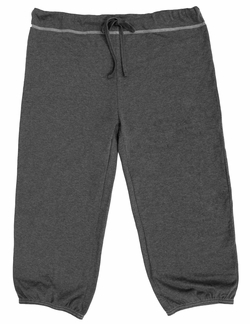 Mens Drawstring Pilates Capri Pant - Charcoal